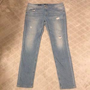 A.n.a distressed boyfriend skinny jeans size 14